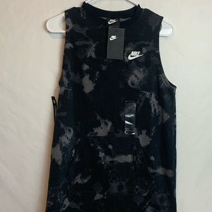 Nike Women's Black Tie-Dye Sleeveless Sheath Dress
